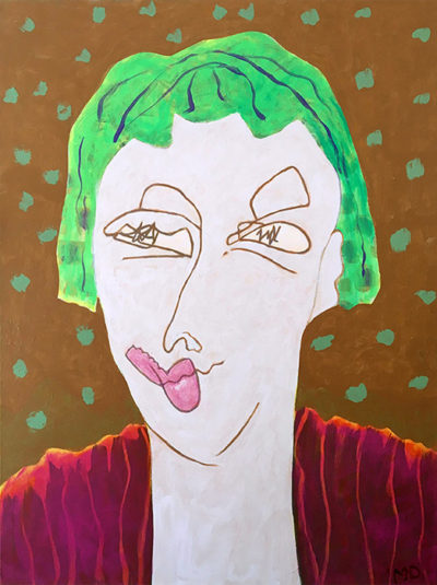 """""""Woman with Green hair"""""""